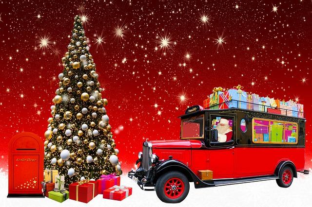 Vánoční doprava zásilek